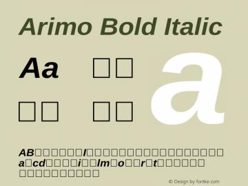 Arimo Bold Italic Version 1.23 Font Sample