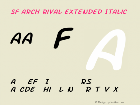 SF Arch Rival Extended Italic ver 1.0; 2000. Freeware.图片样张