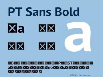 PT Sans Bold Version 2.003W OFL Font Sample