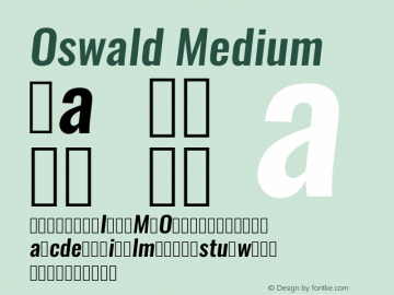 Oswald Medium 3.0; ttfautohint (v0.94.23-7a4d-dirty) -l 8 -r 50 -G 150 -x 0 -w
