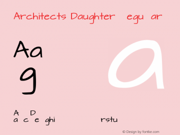 Architects Daughter Regular Version 1.000 2010 initial release图片样张