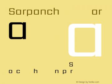 Sarpanch Regular Version 2.003;PS 1.0;hotconv 1.0.78;makeotf.lib2.5.61930; ttfautohint (v1.1) -l 8 -r 50 -G 200 -x 14 -D latn -f deva -w gGD -W -c Font Sample