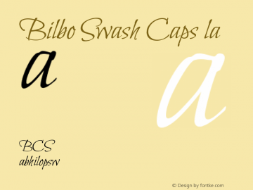 Bilbo Swash Caps Regular Version 1.002 Font Sample