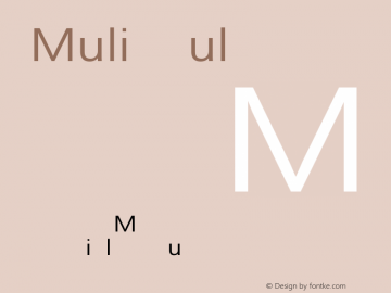 Muli Regular Version 1.000 Font Sample