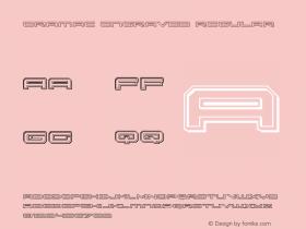 Oramac Engraved Regular Version 2.0; 2016 Font Sample