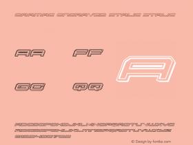 Oramac Engraved Italic Italic Version 2.0; 2016图片样张