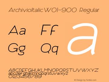 ArchivioItalicW01-900 Regular Version 1.00图片样张
