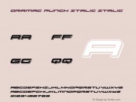 Oramac Punch Italic Italic Version 2.0; 2016图片样张