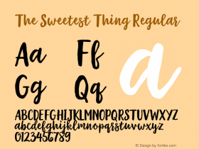 The Sweetest Thing Regular Version 001.001 Font Sample