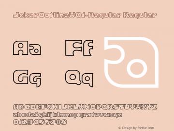 JokerOutlineW01-Regular Regular Version 1.10图片样张