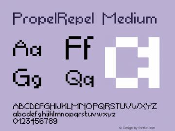 PropelRepel Medium Version 001.000 Font Sample