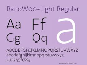 RatioW00-Light Regular Version 1.10图片样张