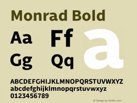 Monrad Bold Version 2.010;PS Version 2.0;hotconv 1.0.78;makeotf.lib2.5.61930 Font Sample