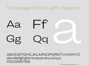 CampaignW00-Light Regular Version 1.00图片样张