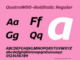 QuatroW00-BoldItalic Regular Version 1.30图片样张