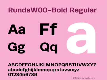 RundaW00-Bold Regular Version 1.00图片样张