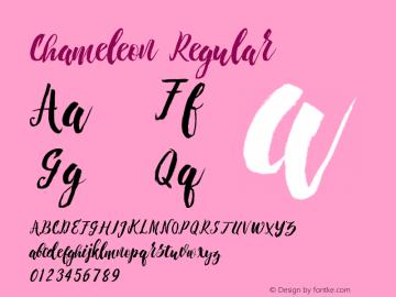 Chameleon Regular 1.000 Font Sample