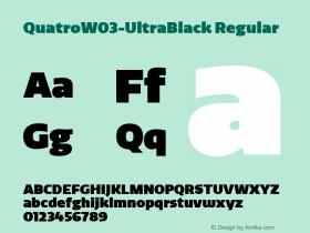 QuatroW03-UltraBlack Regular Version 1.30图片样张