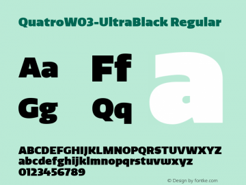 QuatroW03-UltraBlack Regular Version 1.30图片样张
