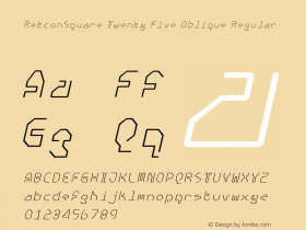 RetconSquare Twenty Five Oblique Regular Version 4.10图片样张