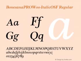 BonesanaPROW00-ItalicOSF Regular Version 1.00图片样张