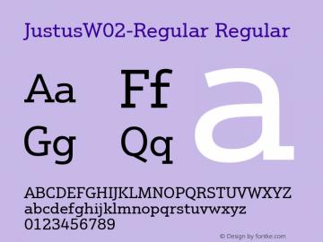 JustusW02-Regular Regular Version 1.00图片样张