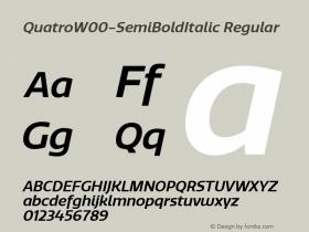 QuatroW00-SemiBoldItalic Regular Version 1.30图片样张