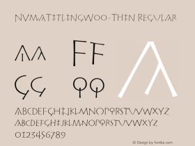 NvmaTitlingW00-Thin Regular Version 1.20图片样张