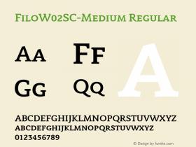 FiloW02SC-Medium Regular Version 1.00图片样张