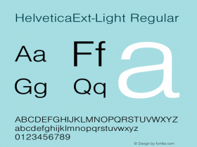 HelveticaExt-Light Regular Converted from C:\EMSTT\ST000085.TF1 by ALLTYPE图片样张