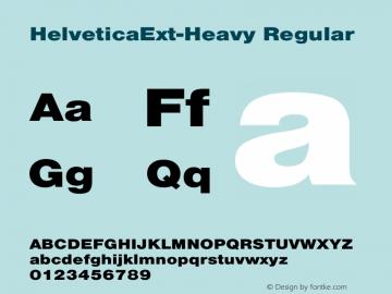 HelveticaExt-Heavy Regular Converted from C:\EMSTT\ST000080.TF1 by ALLTYPE Font Sample