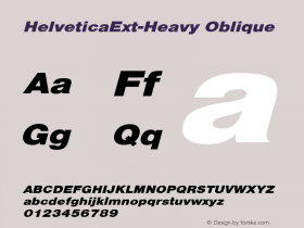 HelveticaExt-Heavy Oblique Converted from C:\EMSTT\ST000080.TF1 by ALLTYPE Font Sample