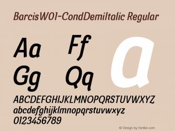 BarcisW01-CondDemiItalic Regular Version 1.00图片样张