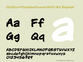 CCJScottCampbellLowerW00-Bd Regular Version 1.00图片样张