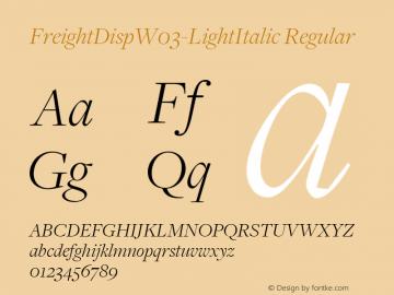 FreightDispW03-LightItalic Regular Version 3.00图片样张