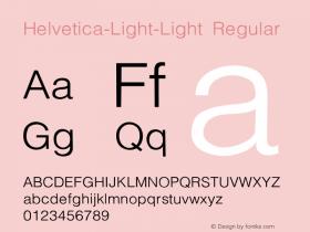 Helvetica-Light-Light Regular Converted from C:\WIN\SYSTEM\ST000096.TF1 by ALLTYPE图片样张
