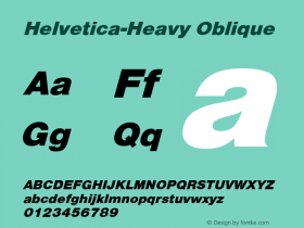 Helvetica-Heavy Oblique Converted from C:\EMSTT\ST000081.TF1 by ALLTYPE Font Sample