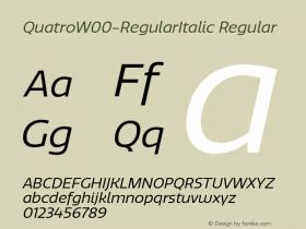 QuatroW00-RegularItalic Regular Version 1.30图片样张