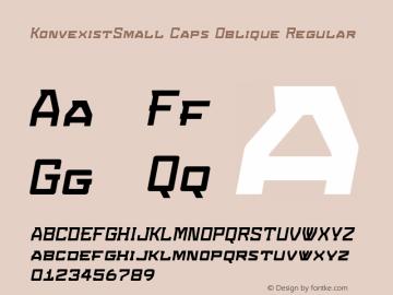 KonvexistSmall Caps Oblique Regular Version 4.10图片样张
