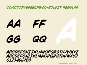 CCVictorySpeechW00-BoldIt Regular Version 1.00图片样张