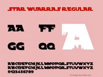 Star Wuarras Regular Version 1.00 May 3, 2016, initial release图片样张