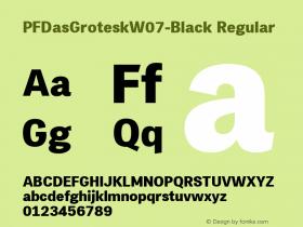 PFDasGroteskW07-Black Regular Version 2.00图片样张