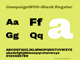 CampaignW00-Black Regular Version 1.00图片样张