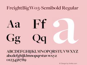 FreightBigW03-Semibold Regular Version 3.00图片样张