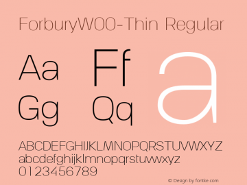 ForburyW00-Thin Regular Version 1.00图片样张