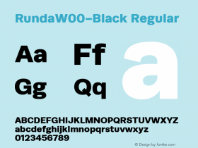 RundaW00-Black Regular Version 1.00图片样张