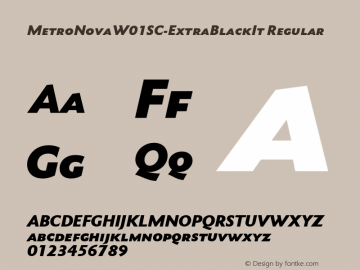 MetroNovaW01SC-ExtraBlackIt Regular Version 1.10图片样张