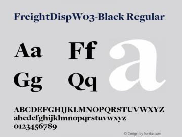FreightDispW03-Black Regular Version 3.00图片样张