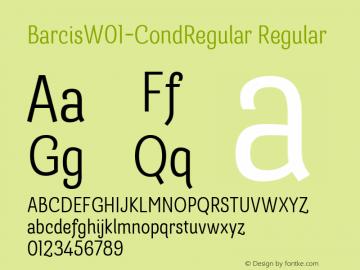 BarcisW01-CondRegular Regular Version 1.00图片样张