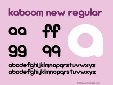 KaBoom New Regular Version 1.00 April 14, 2016, initial release图片样张
